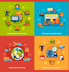 logistic icon set vector image vector image