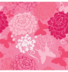 Seamless pattern with butterflies silhouettes vector image