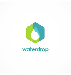 water drop icon logo vector image vector image