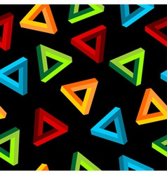 impossible triangle pattern vector image