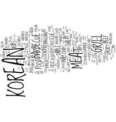 Korean cue text background word cloud concept vector