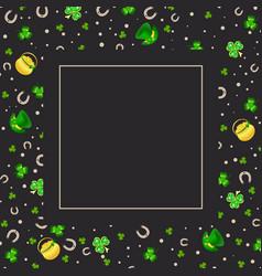 saint patrick greeting card vector image