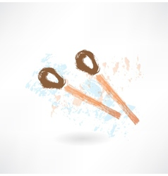 two matches grunge icon vector image vector image