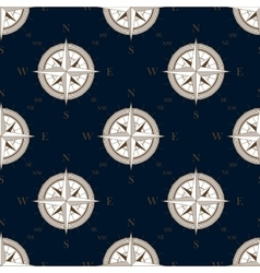Vintage compass seamless pattern background vector image vector image