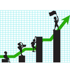 climbing in business vector image