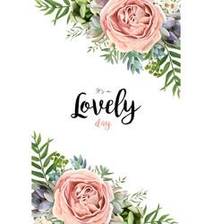 Floral seamless pattern bouquet design garden vector