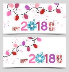 New year 2018 vector