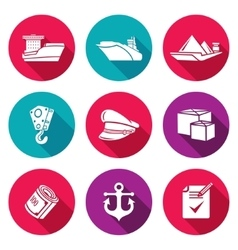 Sea craft Icons Set vector image vector image