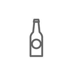 simple beer bottle line icon symbol and sign vector image vector image