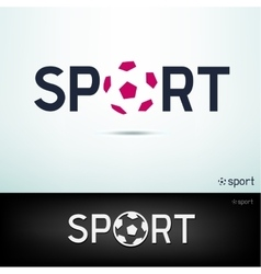 simple sport text vector image