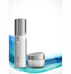 Skin moisturizer cosmetic ads template vector