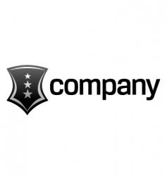 strong shield logo vector image