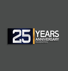 25 years anniversary logotype with blue vector