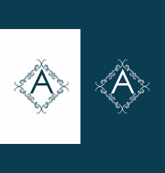a initial letter with cool ornament logo vector image