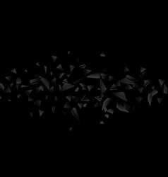 abstract explosion broken glass vector image