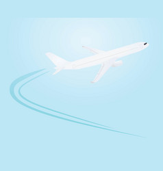 airplane flying icon vector image