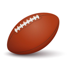 American football ball on white background vector