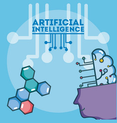 Artificial intelligence concept vector