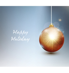 Background with Christmas tree ball vector