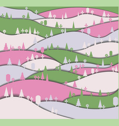 Background with forest vector