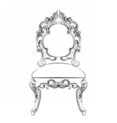 Baroque Imperial style furniture vector