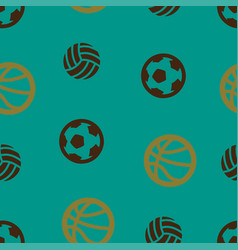 basketball football volleyball pattern seamless vector image