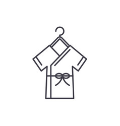 bathrobe line icon concept bathrobe linear vector image