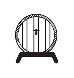 beer barrel outline vector image