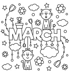 black and white coloring page vector image
