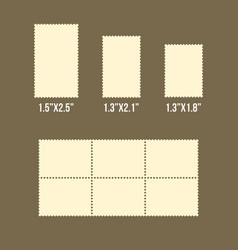 blank postage stamps america size vector image