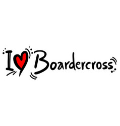 boardecross love vector image