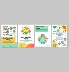 botanical park brochure template layout natural vector image