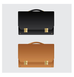 Business leather briefcase on white background vector