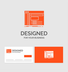 Business logo template for admin console panel vector