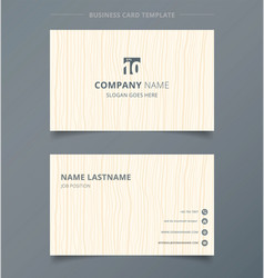 Creative business card and name card light brown vector