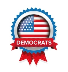 Democrats election badge vector image