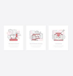 design types - line design style icons set vector image