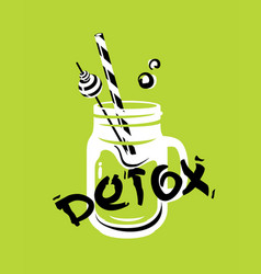 detox health cocktail vector image