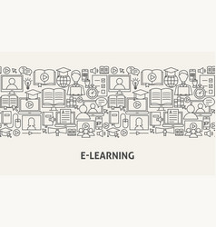 e learning banner concept vector image