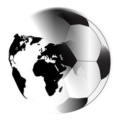 Earth football vector