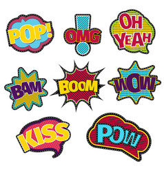 embroidery text patches trendy fashion stitching vector image
