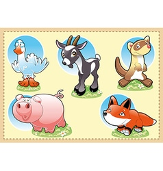 Farm Baby Animals vector image