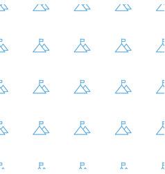 Flag on mountain icon pattern seamless white vector