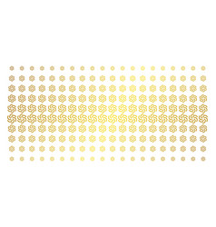 Galaxy gold halftone effect vector