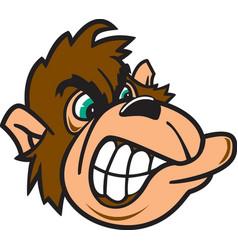 Gorilla head logo mascot vector