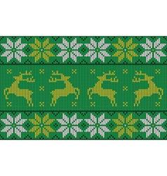 green christmas jumper vector image