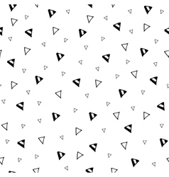 Hand drawn triangle geometric seamless pattern vector image