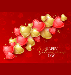 Happy saint valentines day greeting card with 3d vector