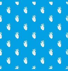 Heart pattern seamless blue vector