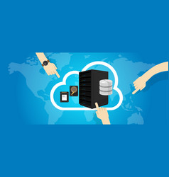Iaas infrastructure as a service on cloud vector